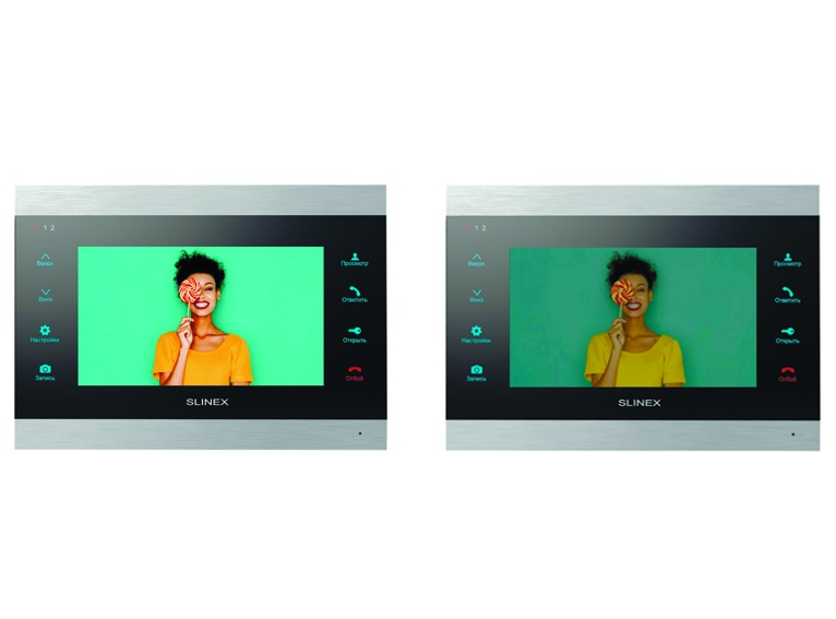 Bright. Vibrant. New IPS screens in the Slinex video intercom